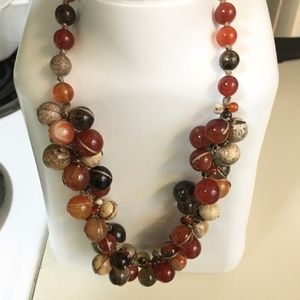 Multi-color Jasper Fancy Cut Adjustable Necklace